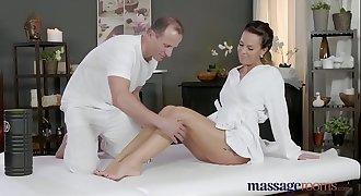 Massage Rooms Horny Milf wanks deep-throats and fucks hard dick like a pro