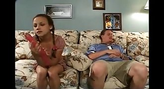 Pretty Teenage Sister Deep-throats & Fucks an Older Guys Hard-on - Go2Cams.com