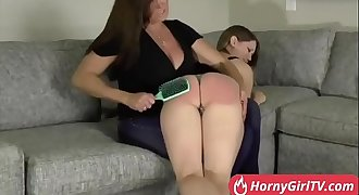 Stepdaughter gets horny while punishing her --- FREE full video AT www.HornyGirlTV.com