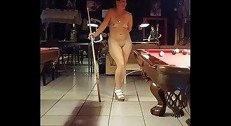 Sexy Shar Shoots Pool Nude