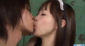 Sexy maid, Momoka Rin, pleases master with hard-core sex - More at JavHD.net