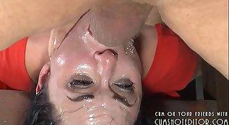 Submissive Brunette Loves Pleasing Black Cocks Part2
