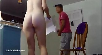 Mailman fuck me please naked cam girl PublicFlashing.me