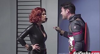 A porno parody of Captain America and Black Widow