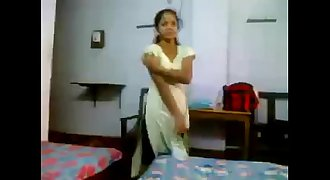 Desi bhabhi provocative her dresses and shows lovely knockers