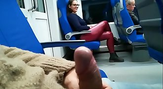 Stranger Jerked and suck me in the train - Pumhot.com