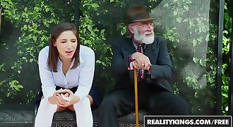 RealityKings - Teens Love Fat Shafts - (Abella Danger) - Bus Bench Creepin