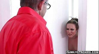 FAMILYSTROKES - HOT MILF FUCKS NERDY STEP-SON ON VACATION specialldownloand.com