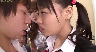 Asian Schoolgirls Seduce Classmate - More Flicks at HotAsianOnline.com