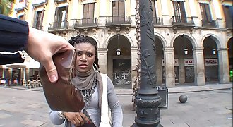 Illegal african immigrant chick fucks for money