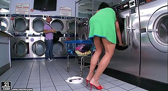 Jewels Jade gets fucked in the laundry