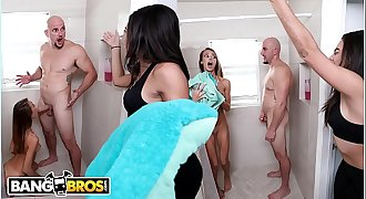 BANGBROS - Charity Crawford Takes A Shower And Jmac Is Being A Creep