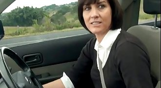 Manchester MILF Plays With Pussy In Her Car - Boobsandtits.co.uk