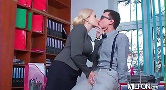 Angel Wicky sexy horny boss lady claim a big dick